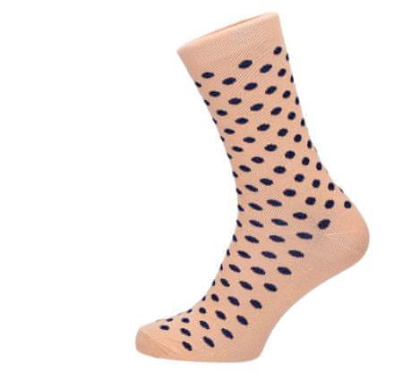 ROSENBULL Veselé ponožky- puntíkované béžové - 43 - 45