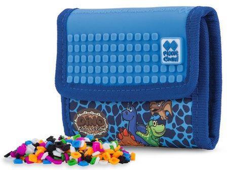 Pixie Crew Dino pixelová peněženka modrá