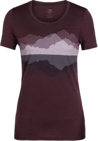 Icebreaker damski t-shirt Wmns Tech Lite SS Low Crewe Cook, Reflected Velvet, S