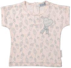 Dirkje Dívčí tričko s potiskem - světle růžové