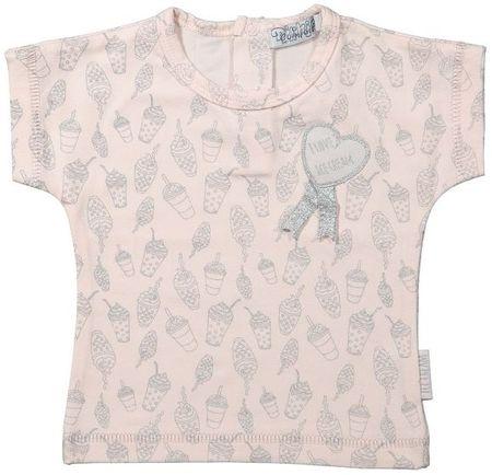 Dirkje Dívčí tričko s potiskem 68 světle růžové