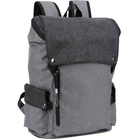 Street ovalni ruksak Cosmo Light, svjetlo sivi