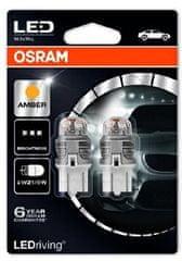 Osram Žárovka typ W21/5W, 12V, 21/5W, LEDriving oranžová