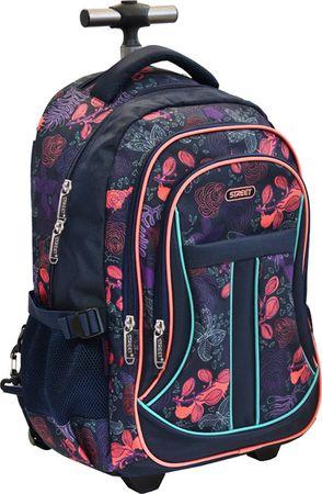 Street ovalni ruksak s kotačima i ručkom Active Sparkle