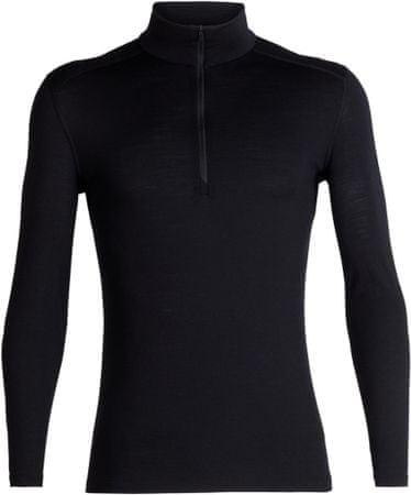 Icebreaker koszulka męska Mens 200 Oasis LS Half Zip Black XL