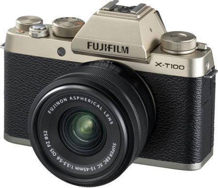 FujiFilm aparat cyfrowy X-T100 + XC 15-45 OIS PZ złoty