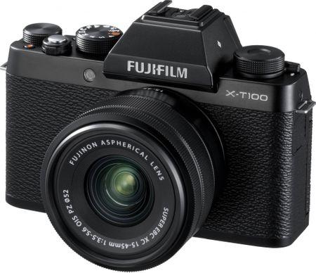 FujiFilm aparat cyfrowy X-T100 + XC 15-45 OIS PZ czarny