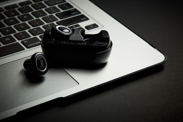 Bluetooth sluchátka Erato Muse dokovací stanice stereo 3D prostorový zvuk IPX5 mikrofon mems mic