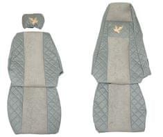 F-CORE Poťahy na sedadlá FX03, sivé