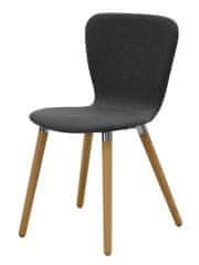 Danish Style Jedálenská stolička Sakura (Súprava 2 ks), antracitová