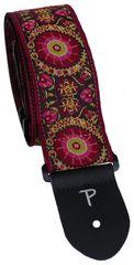 Perris Leathers 7140 Jacquard Oriental Purple Gitarový popruh