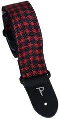 Perris Leathers 7064 Jacquard Red Diamonds Kytarový popruh