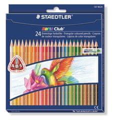 Staedtler Farebné pastelky Noris Club, 24 farieb, trojuholníkový tvar