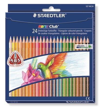 Staedtler Barevné pastelky Noris Club, 24 barev, trojúhelníkový tvar
