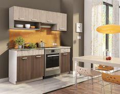 Kuchyně MOOREA 120/180 cm, dub sonoma/akácie