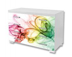 Dimex Nálepky na nábytok - Farebný dym, 85 x 125 cm