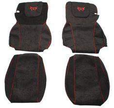 F-CORE Poťahy na sedadlá CS02 RD, čierne