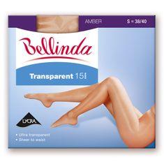 Bellinda punčochové kalhoty bez zesíleného sedu BE222000 TRANSPARENT 15 DEN