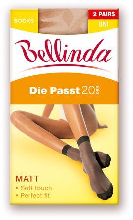 Bellinda DIE PASST 20 SOCKS 2 PACK bronzová uni