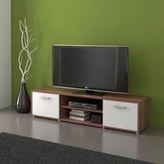 Televizní stolek LAWSON 01, švestka/bílá