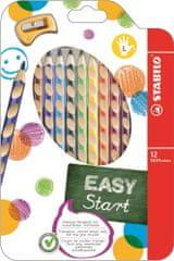 Stabilo Easycolours színes ceruza, háromszögletű balkezeseknek.