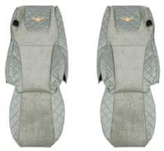 F-CORE Poťahy na sedadlá FX07, sivé