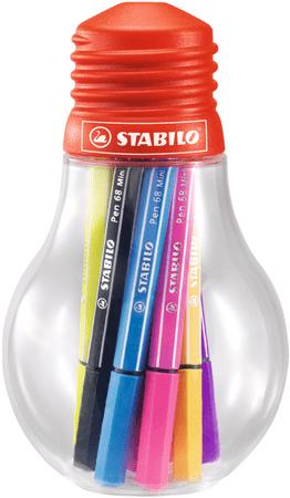 Stabilo Pen 68 Mini Colorful Ideas, 12 barev, 1 mm