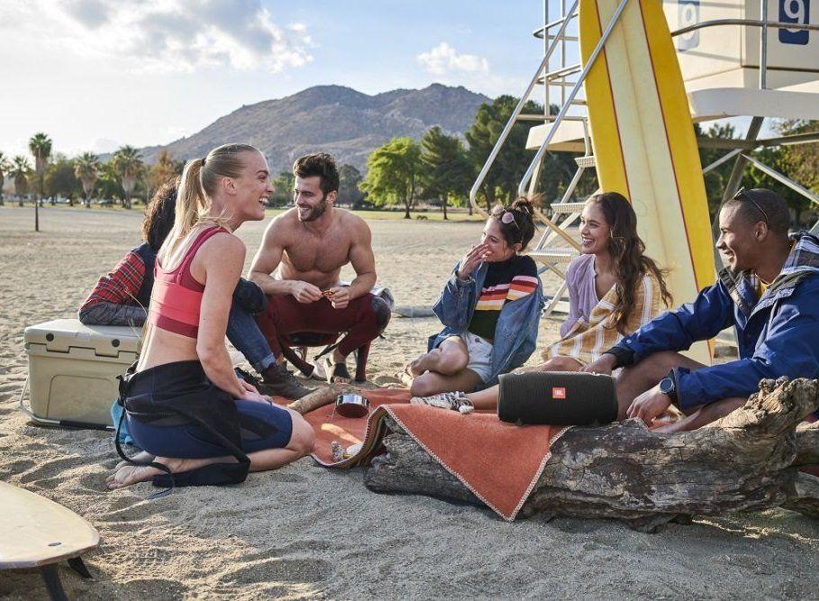 Bezdrátový reproduktor JBL Xtreme 2 na pláž krytí ipx7 bluetooth aplikace jbl connect