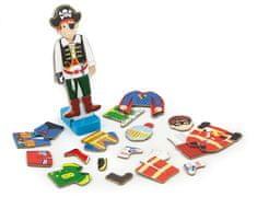 Viga drewniana zabawka magnetyczna - chłopiec