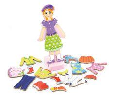 Viga drewniana zabawka magnetyczna - dziewczynka