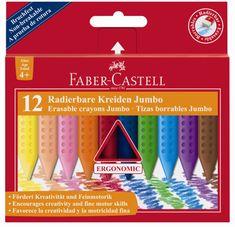 Faber-Castell voštane bojice Grip Jumbo 12/1