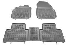 REZAW-PLAST Gumové koberce, súprava 3 ks (2x predné, 1x spojený zadný), pre vozidlá Renault Scénic a Grand Scénic