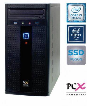 PCX namizni računalnik EXAM G2830 i3 8100/8GB/SSD240GB/FreeDOS (PCX EXAM G2830)