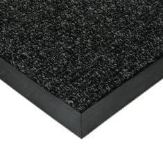 FLOMAT Černá textilní zátěžová čistící vnitřní vstupní rohož Catrine, FLOMAT - 1,35 cm