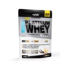 VPLAB beljakovinski izolat in koncentrat iz sirotke 100% Platinum Whey, vanilija, 750 g