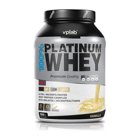 VPLAB beljakovinski izolat in koncentrat iz sirotke 100% Platinum Whey, malina-bela čokolada, 2300 g