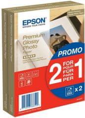 Epson Foto papír Premium Glossy, 10x15 cm (A6), 2x40 listů, 255g/m2, lesklý (C13S042167)