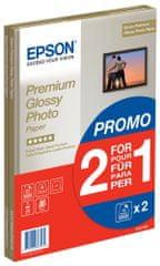 Epson papier fotograficzny Premium Glossy, A4, 2x15 arkuszy, 255g/m2, błyszczący (C13S042169)