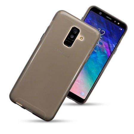 Ultra tanek silikonski ovitek za Galaxy A6+ 2018 A605, prozorno črn