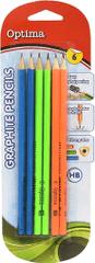 Optima grafični svinčnik HB, 6/1, blister