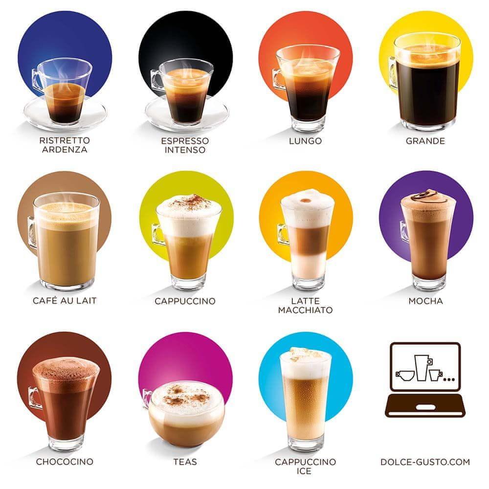 NESCAFÉ Dolce Gusto Espresso Intenso bohatá nabídka nápojů