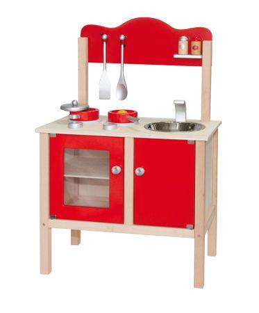 Viga Drevená kuchynka - červená