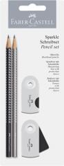 Faber-Castell grafični svinčnik Sparkle BC 2018, srebrno / črn