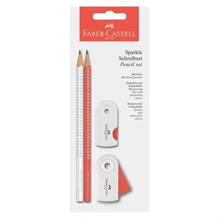 Faber-Castell grafični svinčnik Sparkle BC 2018 koral/bela