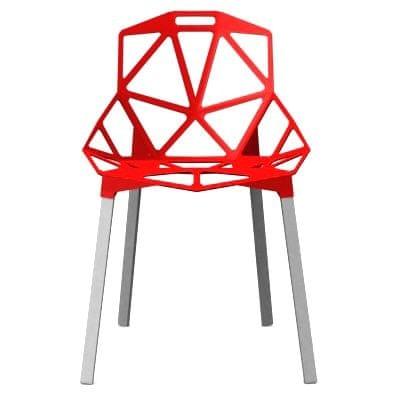 Mørtens Furniture Jídelní židle Guru, červená