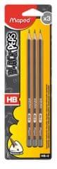 Maped grafični svinčnik Black'Peps HB 3/1 Blister