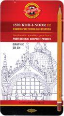 Koh-i-Noor set grafičnih svinčnikov KHN Graphic 5B-5H 12/1