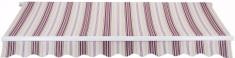 MAKERS markiza Padova 4x2,5m sterowana ręcznie SPD029, beżowo-czerwona