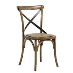 Danish Style Jídelní židle s ratanovým sedákem Harvest (SET 2 ks), antik