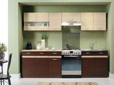 Kuchyně BELISA 200/260 cm, dub wenge/rijeka světlá